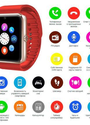 Smart часы GT08 + камера, red