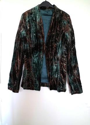 Пиджак бархатный размер s
