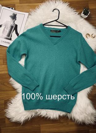 Женский стильный свитер/джемпер шерсть 100% шерстяной светер  ...