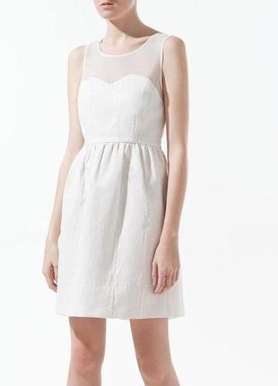 Zara платье в текстурный принт