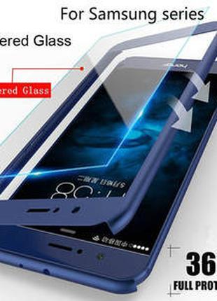 Прочный армированный, защитный, синий чехол для Samsung galaxy J