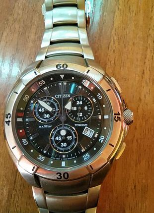 Наручные мужские часы Citizen Titanium w.r 10bar