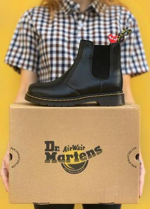 Кожаные ботинки dr. martens chelsea black черевики челси челсі