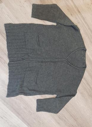 Вязаная кофта, свитер большой размер, батал
