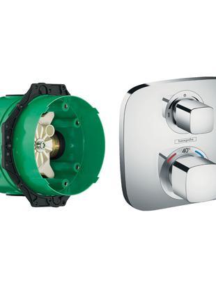 Термостат смеситель  с запорним ECOSTAT  вентилем + IBOX universa