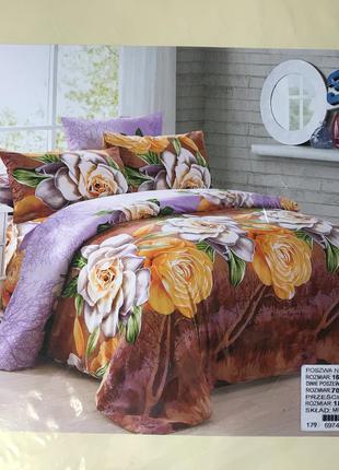 Комплект постільної білизни 3д, постельное белье, двухспальне