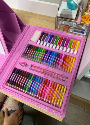 Детский набор на 208 предметов для рисования и творчества