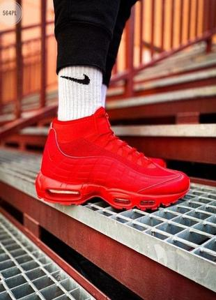 Nike air max sneakerboot 95 red