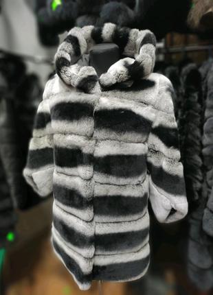 Шуба из шиншиллового кролика