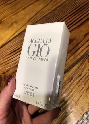 Giorgio armani acqua di gio pour homme туалетная вода, 100 мл