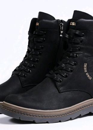 Ботинки зимние мужские на меху Diesel Modern.