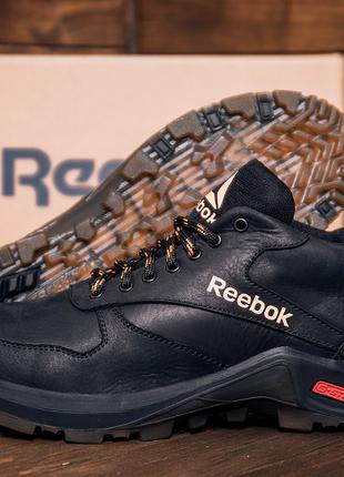 Зимние кожаные кроссовки на натуральном меху Reebok