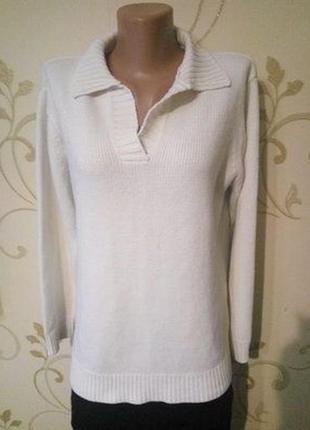 Белый свитер джемпер пуловер большой размер