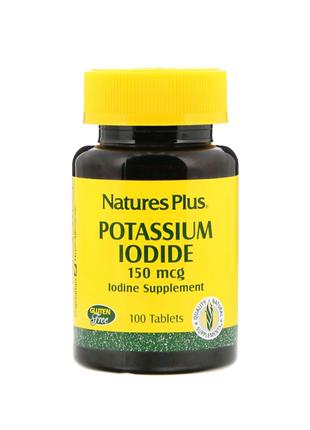 Йодид калия, 150мкг, 100таблеток, Natures Plus