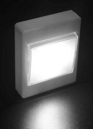 Светильник LED лампа выключатель на батарейках (на магните и липу