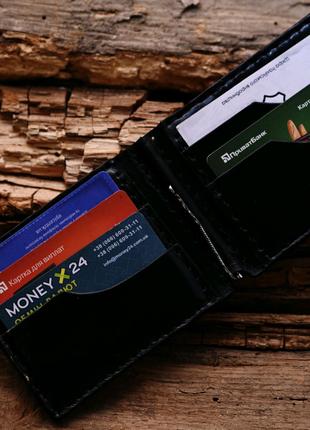 Мужской кошелек, портмоне, зажим, кожаный гаманець