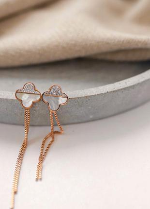 Шиккрнае серьги гвоздики сережки со стразами и камнем в золоте...