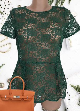 Гипюровая ♥️♥️♥️ кружевная ажурная блузка zara.