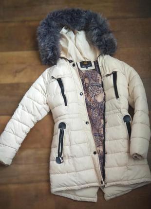 Пуховик куртка пальто зимнее холофайбер  женское