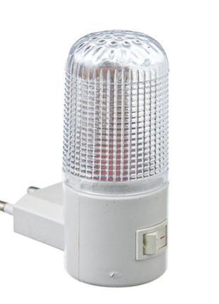 LED Светильник-ночник светодиодный с выключателем, в розетку (эко