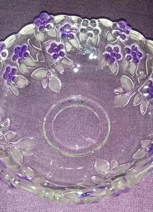 Хрустальная ваза пиала конфетница салатница фруктовница