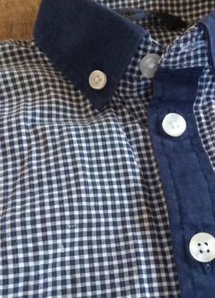 Рубашка футболка нарядная выпускная 2-3г 92-98см