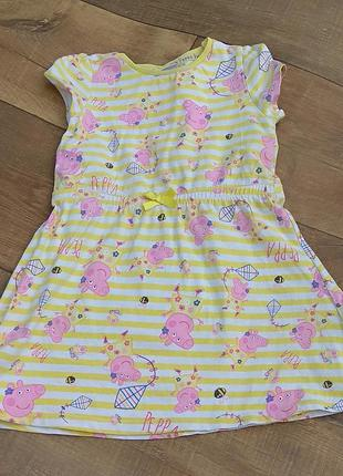 Платье сарафан туника 2-3г 92-98см свинка пеппа peppa pig