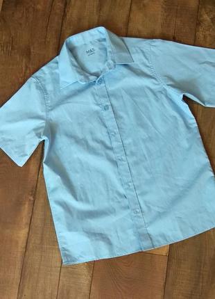 Рубашка школьная выпускная нарядная 158см