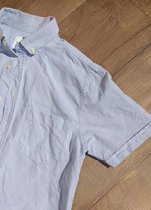 Рубашка школьная выпускная классическая нарядная офисная s-m