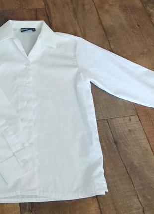 Блуза блузка рубашка 9-10лет 140см школьная нарядная выпускная