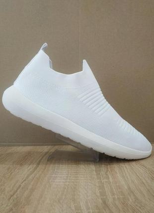 Белые кроссовки носки леткие кеды сетка носки на подошве