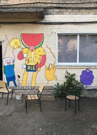 Художественная роспись стен (кафе, офисов, ресторанов)