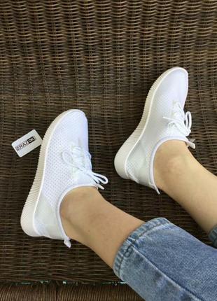 Слипоны белые мокасины кроссовки носки текстиль