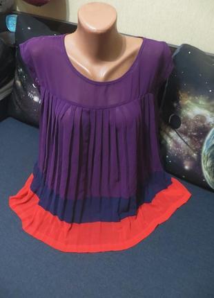 Плиссированная блуза,туника свободный фасон