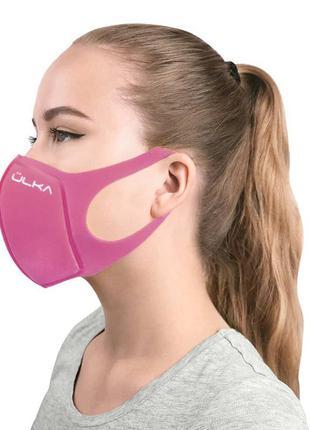 Многоразовая Защитная Угольная Питта Маска ULKA, Розовая, PM2.5