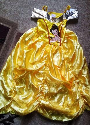 Карнавальный костюм Красавица Белль для девочки 5 - 6 лет