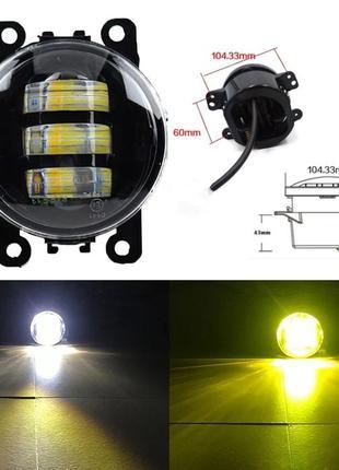 Светодиодные двухцветные LED противотуманные фары ПТФ Renault ...