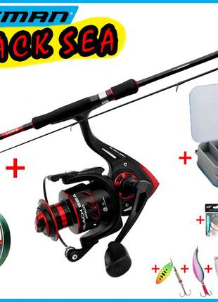 12в1 Набор спиннинговый рыболовный для ловли хищника Flagman B...