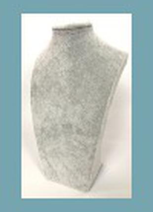 Бюст (подставка) для украшений флокированная