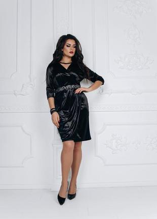 Роскошное платье из королевского бархата🖤