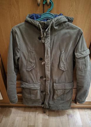 Парка куртка мужская River Island олива(хаки)