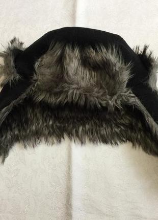 Мужская теплая шапка ушанка.