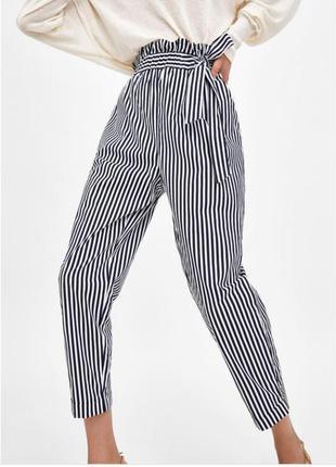 Женские брюки zara # женские штаны в полоску # zara