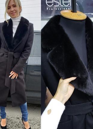 Шикарные зимние пальто с мехом норки