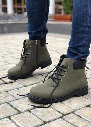 Мужская обувь Тимберленд Зеленый Зима