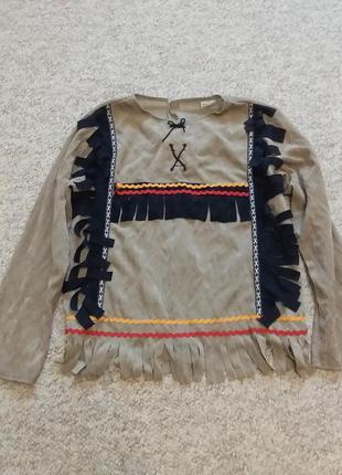 Верх от новогоднего костюма индейца