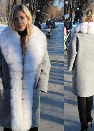 Зимние пальто с мехом песца