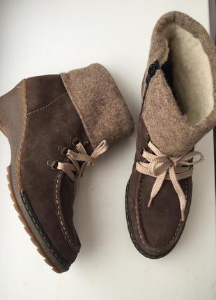 Утепленные ботинки/ сапоги rieker р.39-40, зимние, черевики, ч...
