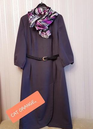 👉серое платье идеальное в офис👍