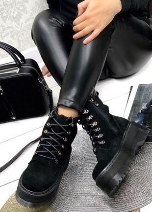 Женские ботинки на толстой подошве
